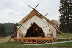 Glamping at the Bar W Guest Ranch in Whitefish, Montana.