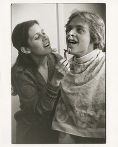 Images from Carrie Fisher's private photo collection taken during the filming of Star Wars.
