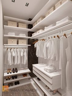 Фото интерьер гардеробной из проекта «Дизайн квартиры 123 кв.м. в ЖК «Duderhof Club» в стиле Хай-тек»