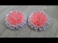 Большие,пышные резинки канзаши 12 см / DIY Large,lush gum Kanzashi - YouTube