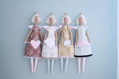 Four little Tilda Angels - made by Pia Williams