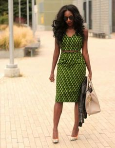 Love the print, color and cut of this dress Put a blazer over it for a more business casual look