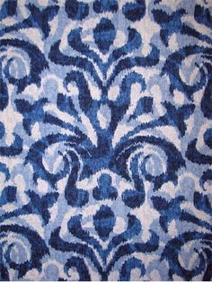 Davi Blue 72089 5 - Duralee Fabric from Market Place Collection. Ikat Fabric, Drapery Fabric, Fabric Decor, Blue Fabric, Fabric Design, Blue Living Room Decor, Upholstery Fabric For Chairs, Damask Wallpaper, Decoration