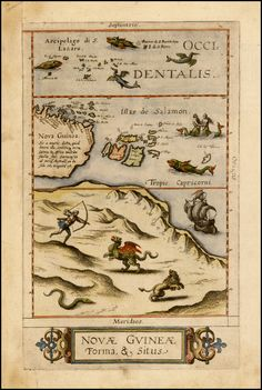 New Guinea (1593) by Cornelis De Jode