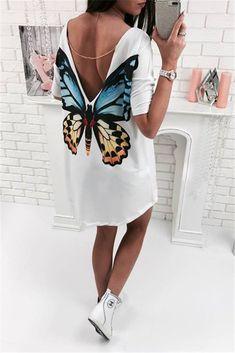 Butterfly Casual V neck mini women t shirt dress bohe chifon dress women's summer casual dresses summer beach dress Casual Dresses, Fashion Dresses, Short Sleeve Dresses, Short Sleeves, Mini Dresses, Elegant Dresses, Sexy Dresses, Long Sleeve, Beautiful Dresses
