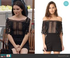 Jane's black lace romper on The Bold Type.  Outfit Details: https://wornontv.net/76437/ #TheBoldType