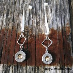 Bullet earrings 9mm Swarovski crystals