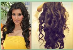 How to curl long hair using a curling iron wand & pin curls tutorial. In this Kim Kardashian hair tutorial video, learn how to create big, sexy, soft curls hairstyles, for hard to curl hair! Curls For Long Hair, Big Curls, Long Curly Hair, Soft Curls, Short Hair, Easy Hair, Soft Curl Hairstyles, Party Hairstyles, Sweet Hairstyles