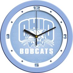 Ohio Bobcats NCAA Wall Clock Blue