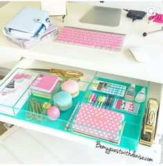 It's like a cotton candy desk