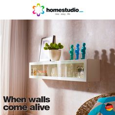 A good wall unit lets every wall in your home tell a story of its own. A great way to display your favourite showpieces, a wall unit blends into your home decor without creating clutter. Bring one home today! Visit : www.homestudio.com  #homestudio #roomfurniture #wallunits