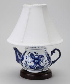 Blue & White Teapot Lamp