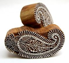 Paisley Indian Wooden Block Printing Stamp For Textile Arts Or Paper