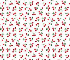 Cherry Picnic fabric by ileneavery on Spoonflower - custom fabric