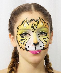 Tiger face painting Tiger Face Paints, Carnival, Painting, Carnavals, Painting Art, Carnivals, Paintings, Painted Canvas, Drawings