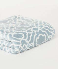 Look what I found on #zulily! Cerulean Blue Baroque Plush Blanket #zulilyfinds