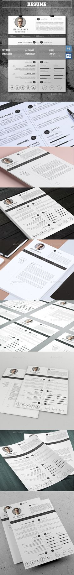 The CV Template PSD, MS Word. Download here: http://graphicriver.net/item/the-cv/16130827?ref=ksioks