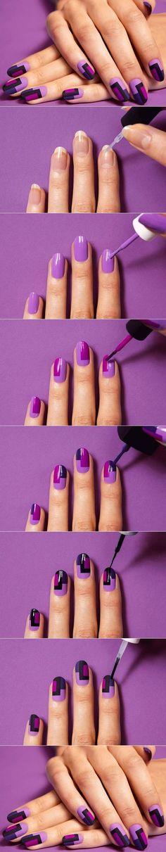 DIY Chic Mod Mani Striped Nail Art