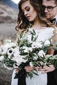 Provo Canyon Wedding Day Bridals // Kathryn & Travis via Rocky Mountain Bride // wedding day hair and makeup // white wedding bouquet // @signaturebrides @bridalimage Summer J Photo Golden Petals Floral