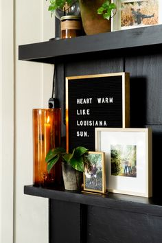 Baton Rouge Rental House Tour Photos | Apartment Therapy Bedroom Fireplace, Fireplace Mantle, Living Room Bedroom, Mosslanda Picture Ledge, Tree Canopy, Kitchen Paint Colors, Craftsman Style, Wall Organization, House Tours