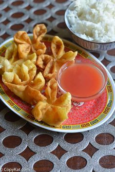 Chinese Homemade Cream Cheese Wontons - Like In A Restaurant! _ The filling is made with cream cheese & a touch of sugar. Serve these with some Sweet & Sour Sauce. These would also go great with some hot mustard. You may not need to go out for these anymore with this simple recipe! #Wontons #Cream_Cheese