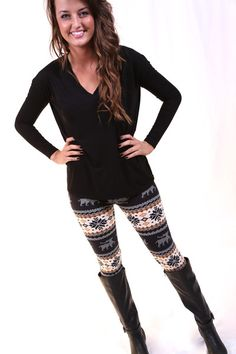 Winter Print Legging