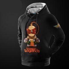 Q versão Lee Sin preto hoodie longo da luva para o jogo de homens LOL
