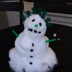 Snowman at Starbucks