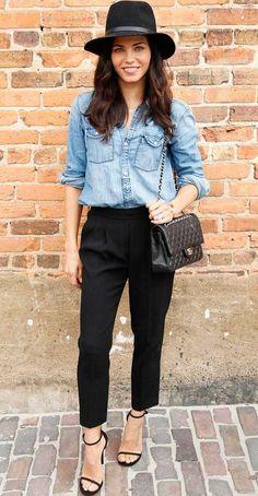 jeans + calça social