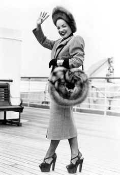 Carmen Miranda - c. 1948 Wow, those shoes!
