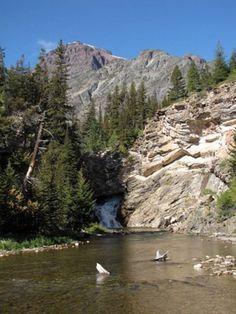 #hiking #montana Running Eagle Falls aka Trick Falls in Two Medicine, Glacier National Park, Montana, USA