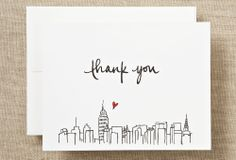 S/6 NYC Thank You Cards on One Kings Lane today
