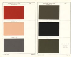 Wartime Camouflage Colours. A slightly whacky essay on the use of camouflage paint colours on buildings during WWII - http://patrickbaty.co.uk/2011/10/05/wartime-camouflage-colours/
