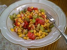 This combination from my pantry and refrigerator makes an easy gluten-free salad any time. During the summer fresh corn, tomato, celery and onion salad is...