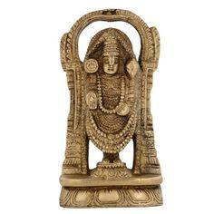 Religious Gifts Lord Venkateswara Tirupati Balaji Brass Statue Hindu Decor 6 Inch ShalinIndia http://www.amazon.in/dp/B00K69G0NQ/ref=cm_sw_r_pi_dp_T5xaub19A7WJD
