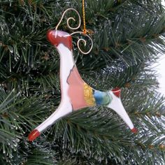 Fused Glass Deer Ornament-Chile -