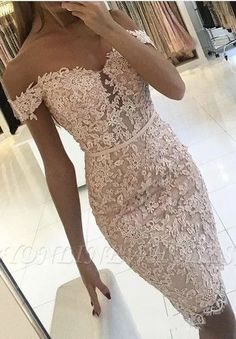 Homecoming Dresses 2018 Buttons Lace Off-the-Shoulder Sexy Short Tight Homecoming Dress Homecoming Dresses_Special Occasion Dresses_High Quality Wedding Dresses, Prom Dresses, Evening Dresses, Bridesmaid Dresses, Homecoming Dress - Short Lace Bridesmaid Dresses, Prom Dresses, Formal Dresses, Wedding Dresses, Graduation Dresses, Summer Dresses, Quinceanera Dresses, Long Dresses, Wedding Bridesmaids