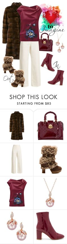 """""""Choosing Sides"""" by april-wilson-nolen ❤ liked on Polyvore featuring Liska, Louis Vuitton, The Row, Naughty Monkey, Roland Mouret and Polly Plume"""
