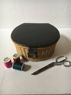 Check out this item in my Etsy shop https://www.etsy.com/listing/520921191/vintage-wicker-sewing-basket-sewing