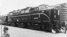 Here's Pennsylvania Railroad No. 4995, one of two E3B experimental electric locomotives built by Baldwin Westinghouse in 1951. Shown here at New Brunswick, New Jersey in 1955