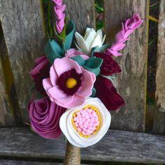 Felt Flower Bridal bridesmaids Bouquet  Custom / от roundtherosies