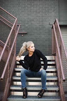 jessakae, laced up, true religion, fall, womens fashion, fashion, blonde, pony tail, hair