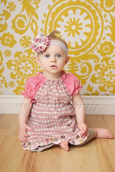 Girl's Boutique Spring Daisy Peasant Dress Sizes by mellonmonkeys, $36.50