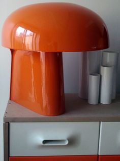 Lampe 'Body' - Plastique Orange - Gerd Lange - 1970