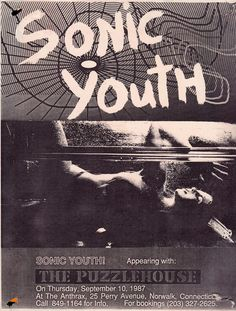 Sonic Youth at the Anthrax Rock Posters, Band Posters, Concert Posters, Music Posters, Punk Poster, Film Poster, Illustration Photo, Vintage Posters, Retro Posters