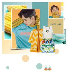 """""""Lucky One"""" by bibibaubau ❤ liked on Polyvore featuring Dries Van Noten, Apiece Apart, Dolce&Gabbana, Paul Andrew, kpop, EXO, chen and luckyone"""