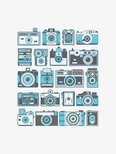 Retro Cameras by Fifty Five Hi's
