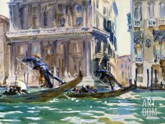 View of the Grand Canal in Venice by John Singer Sargent Photographic Print at Art.com