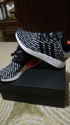 Adidas Original NMD R2 Primeknit PK Core Black White Zebra Men