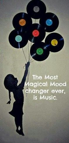 The most magical mood changer ever is music. Well in my humble opinion it is one of the most magical mood changer ever. Kinds Of Music, Music Is Life, My Music, House Music, Music Mood, Staff Music, Hippie Music, Music Score, Music Class